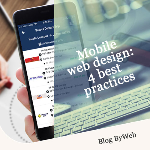 Mobile web design: 4 best practices